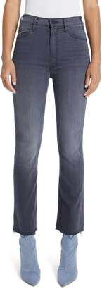 Mother The Hustler High Waist Ankle Fray Jeans