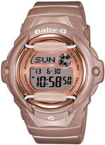 Baby-G Women's Digital Beige Resin Strap Watch 43x46mm BG169G-4