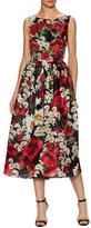 Dolce & Gabbana Silk Floral Print Flared Dress