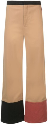 Rosie Assoulin contrasting cuffed trousers