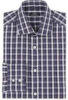 Fairfax Men's Plaid Slub-Weave Cotton-Linen Dress Shirt