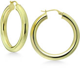 Giani Bernini Polished Tubular Hoop Earrings in 18k Gold-Plated Sterling Silver, Only at Macy's