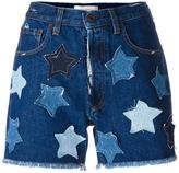 Faith Connexion star denim shorts - women - Cotton - 25