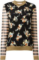 Marni floral stripe pattern jumper - women - Silk/Cotton/Polyamide - 42