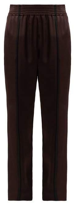 Haider Ackermann Kuiper Satin Trousers - Womens - Brown