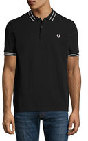 Fred Perry Tramline Tipped Piqué Polo Shirt