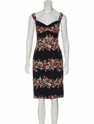 Dolce & Gabbana Floral Print Dress w/ Tags Black