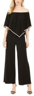 MSK Petite Off-The-Shoulder Overlay Jumpsuit