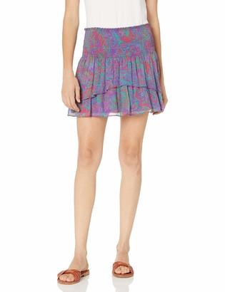 Ramy Brook Women's Printed Jackson Ruffle Mini Skirt
