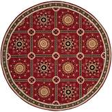Safavieh EZC711A-6R Easy to Care Collection Hand-Hooked Round Area Rug, 6-Feet in Diameter