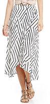 Billabong Time Again Striped Envelope Front Midi Skirt