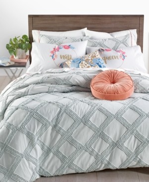 Whim by Martha Stewart Collection Chenille Trellis 3-Pc. Full/Queen Comforter Set, Created for Macy's Bedding