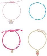 Accessorize 4x Butterfly & Owl Friendship Bracelet Pack