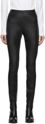 Rag & Bone Black Leather Simone Trousers