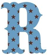 Wall Candy Arts WallCandy Arts Luv Letters Stars R, Blue/Black