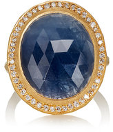 Malcolm Betts Women's Oval Blue Sapphire & Yellow Gold Ring