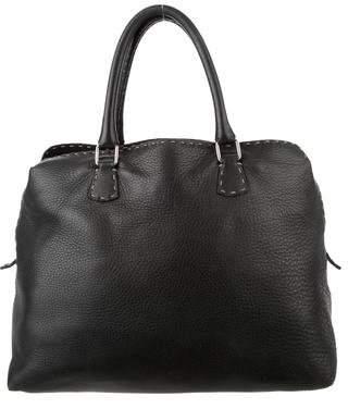 Fendi Selleria Leather Handle Bag