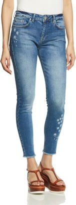 Desigual Women's Satisfaction Embroidered Detail Denim Trousers