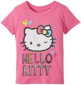 Hello Kitty Winking Glitter Tee (Toddler/Kid) - Piggy Pink - 5