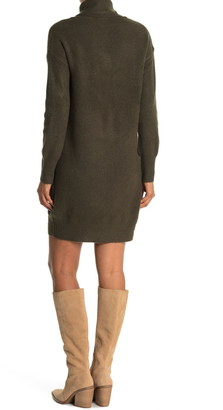 Cloth By Design Seamed Turtleneck Sweater Dress