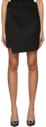 Givenchy Black Wool Wrap Miniskirt