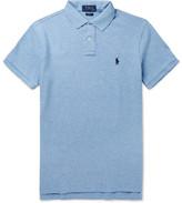 Polo Ralph Lauren Slim-fit Cotton-piqué Polo Shirt - Blue