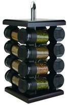 Olde Thompson 16-Jar Revolving Espresso-Color Spice Rack