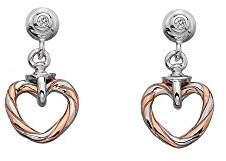 Hot Diamonds Women 925 Sterling Silver Diamond Dangle and Drop Earrings DE543