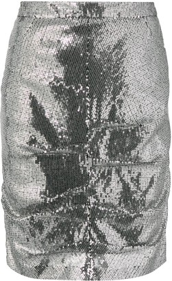 MSGM Sequin Pencil Skirt