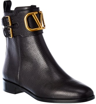 Valentino Vlogo 25 Leather Bootie