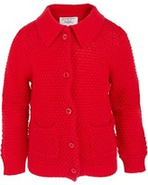 Rachel Riley Red Collared Cotton Cardigan