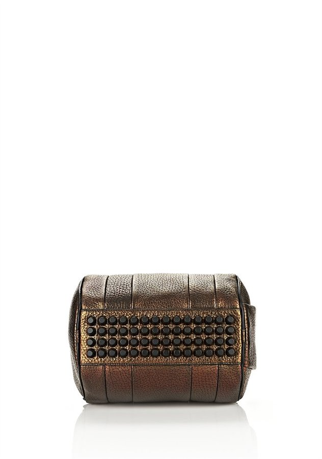 Alexander Wang Rockie In Pebbled Iridescent With Matte Black