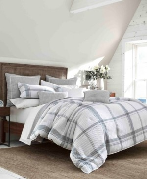 Nautica Bronwell Grey Duvet Set, Twin Bedding
