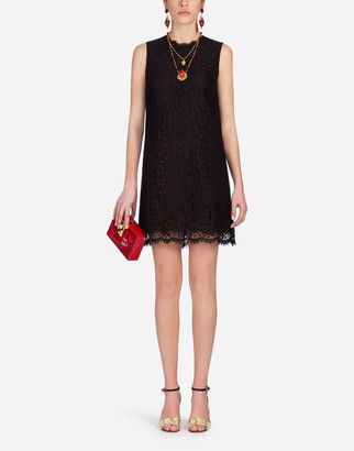 Dolce & Gabbana A-Line Dress In Cordonetto Lace