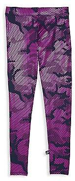Terez Little Girl's & Girl's Camo Foil Leggings