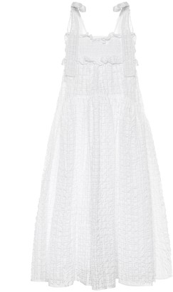 Cecilie Bahnsen Mika smocked cloque midi dress