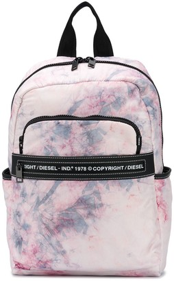 Diesel Tie-Dye Print Backpack