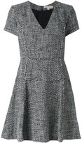 MICHAEL Michael Kors v neck skater dress - women - Polyester/Spandex/Elastane - 4