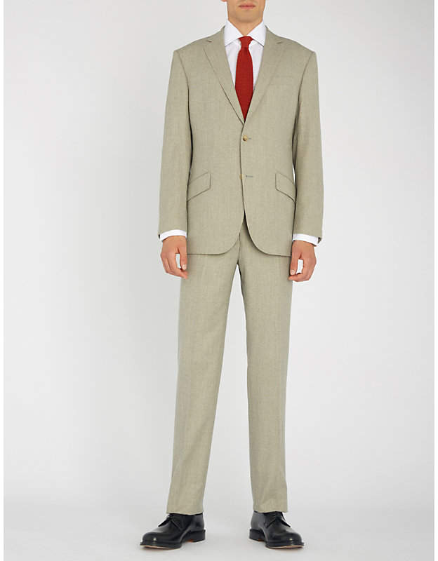 Richard James Hyde tailored-fit wool-flannel suit