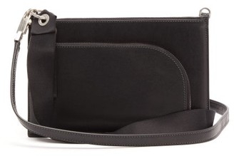 Rick Owens Logo-debossed Leather Cross-body Bag - Mens - Black