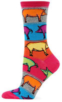 Hot Sox Knit Pig Socks