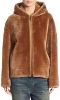 Vince Leather Shearling Hoodie