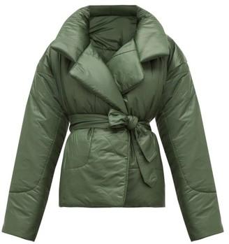 Norma Kamali Sleeping Bag Padded Shell Coat - Womens - Dark Green