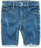 Appaman Adaptive Kids Adaptive Rainbow Jean Shorts (Little Kids/Big Kids) (Medium Blue Wash) Girl's Shorts