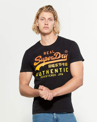 Superdry 3D Ombre Logo Short Sleeve Tee