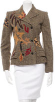 Dolce & Gabbana Leather-Accented Wool Jacket