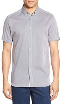 Ted Baker 'Teeger Diamond' Modern Trim Fit Sport Shirt