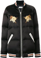 Coach embroidered quilted jacket