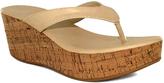 Fashion Focus Natural Bee Flip-Flop Wedge Sandal
