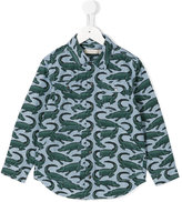 Stella McCartney crocodile print shirt - kids - Cotton - 2 yrs